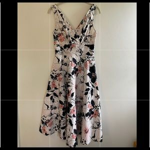 Stop Staring Floral Fit n Flair Dress